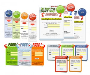 Squeeze Page Graphics and Graphical Templates